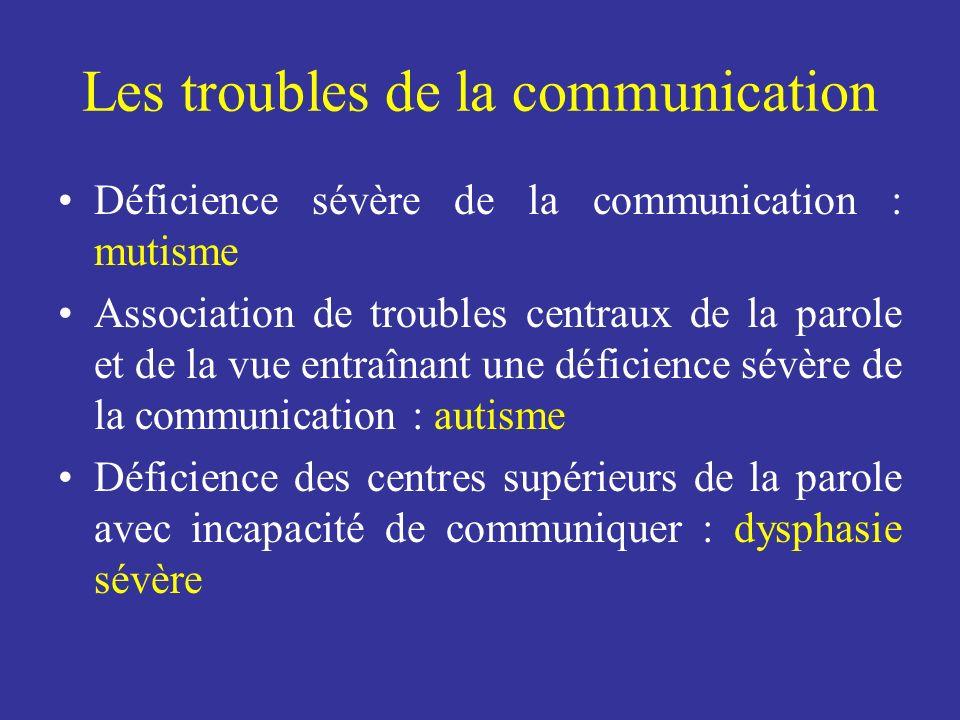 Les troubles de la communication