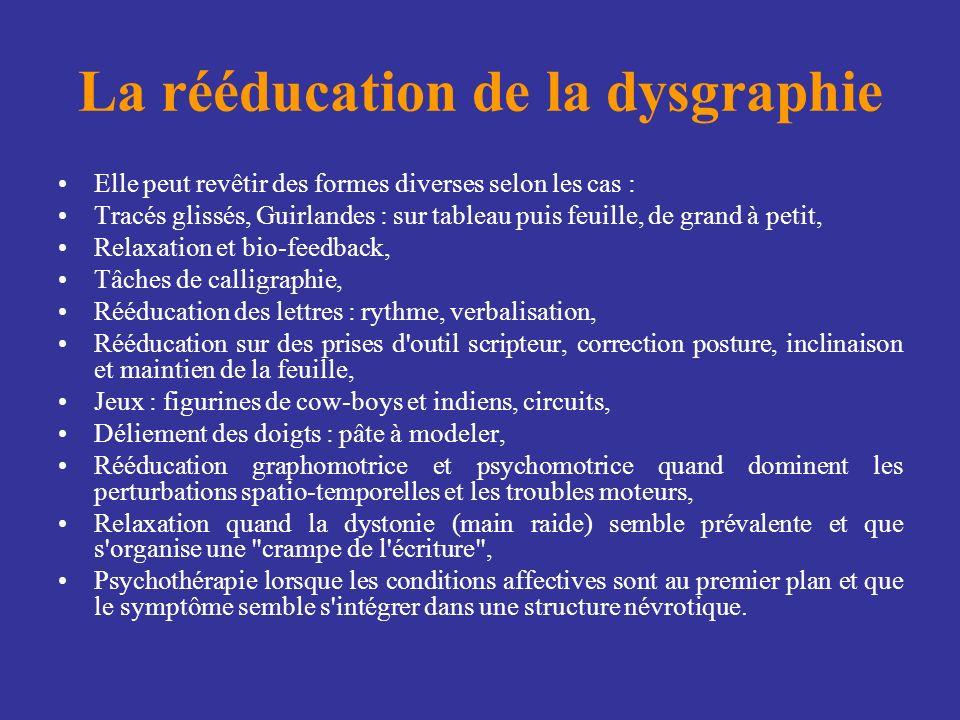 La rééducation de la dysgraphie