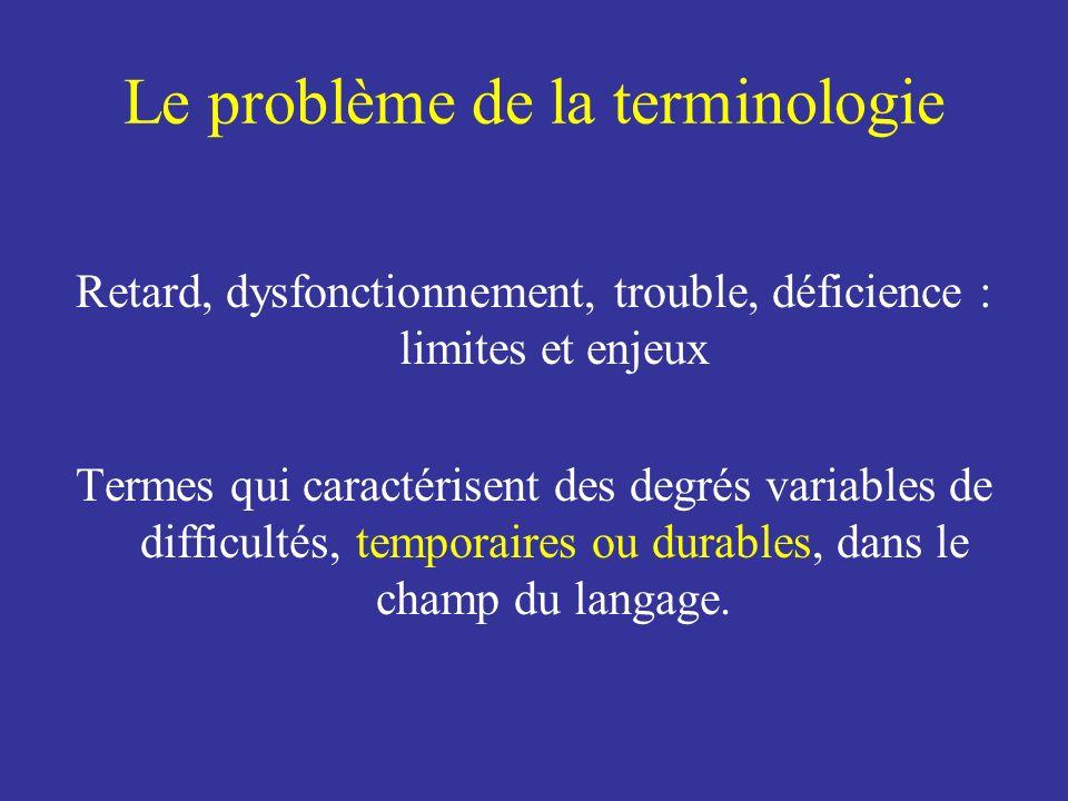 Le problème de la terminologie