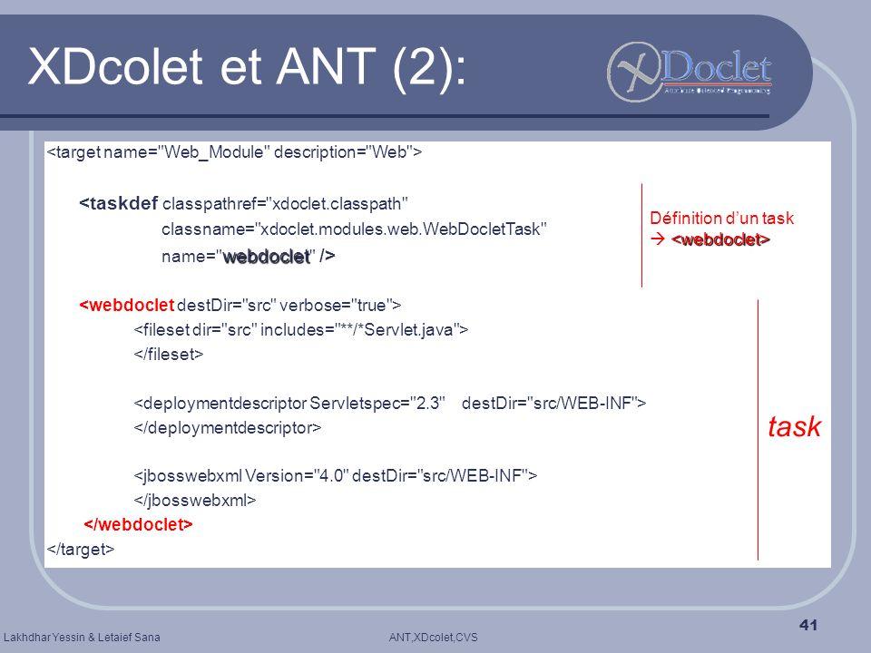 XDcolet et ANT (2): task <taskdef classpathref= xdoclet.classpath