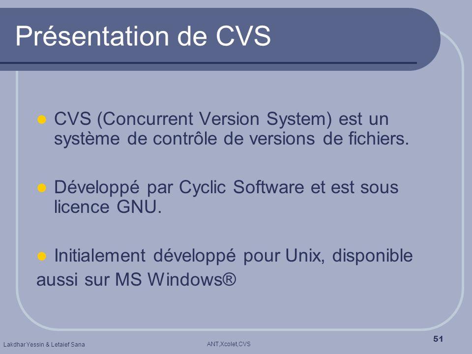 Présentation de CVS CVS (Concurrent Version System) est un système de contrôle de versions de fichiers.