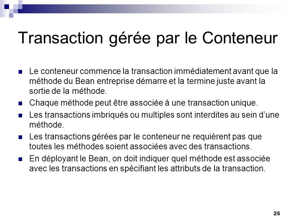Transaction gérée par le Conteneur