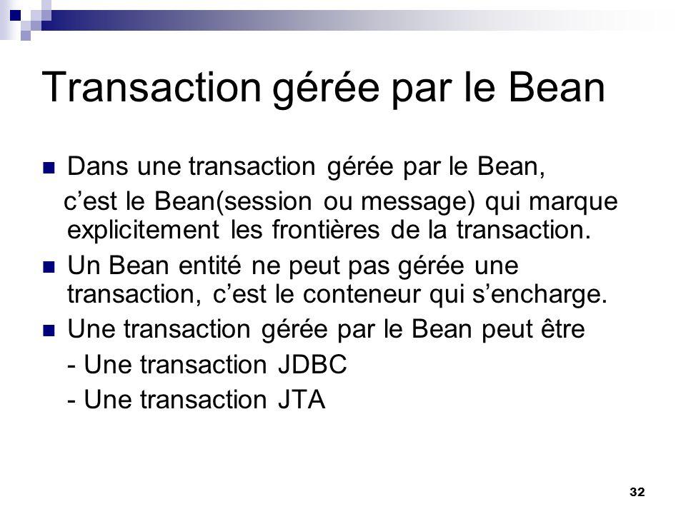 Transaction gérée par le Bean