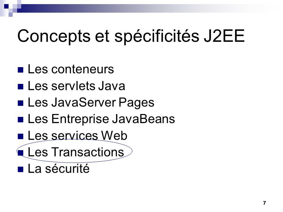 Concepts et spécificités J2EE