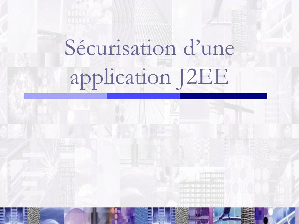 Sécurisation d'une application J2EE