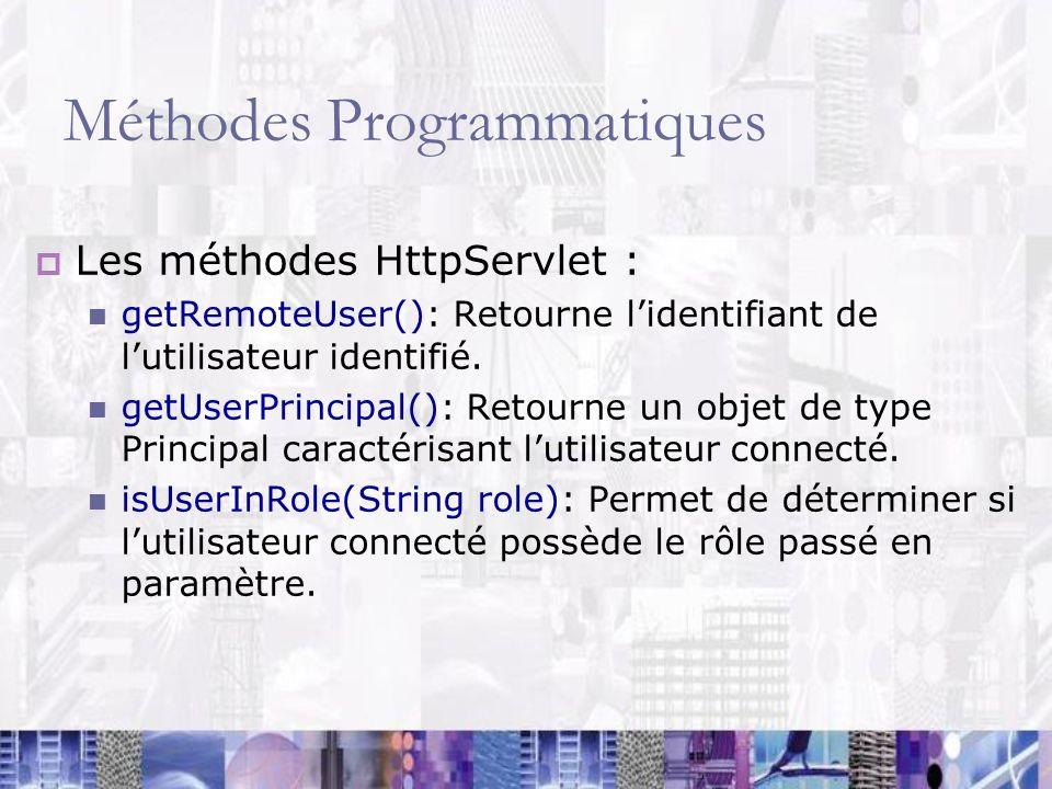 Méthodes Programmatiques