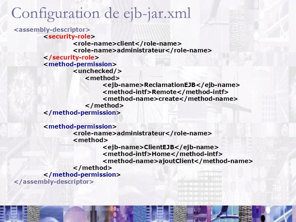 Configuration de ejb-jar.xml