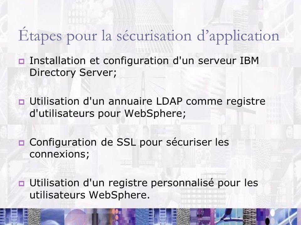 Étapes pour la sécurisation d'application