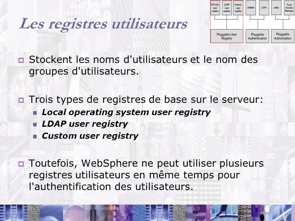 Les registres utilisateurs