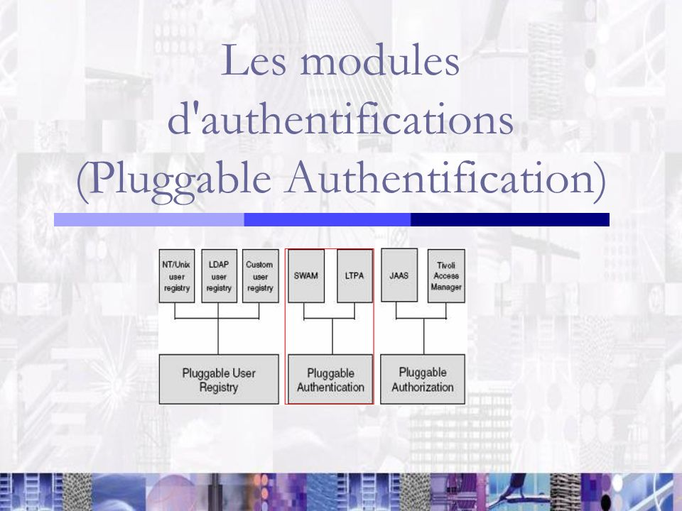 Les modules d authentifications (Pluggable Authentification)