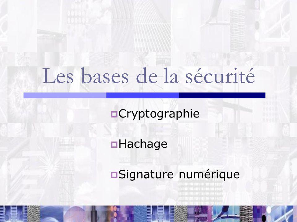Les bases de la sécurité
