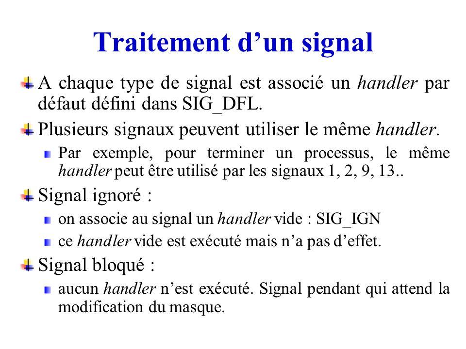 Traitement d'un signal