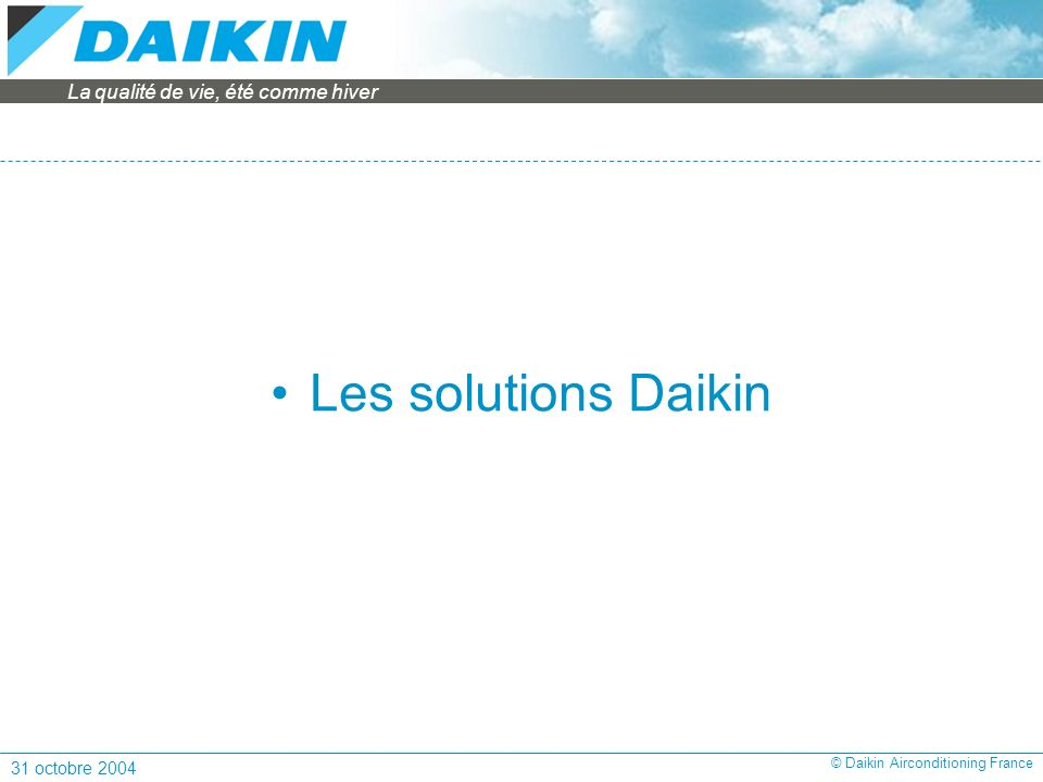 Les solutions Daikin