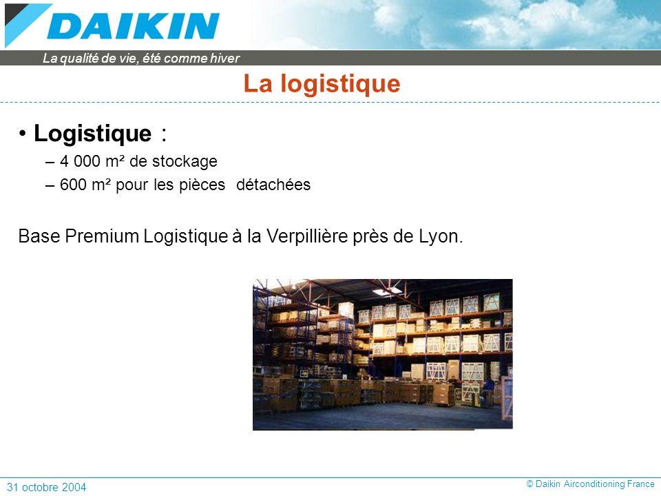 La logistique Logistique :