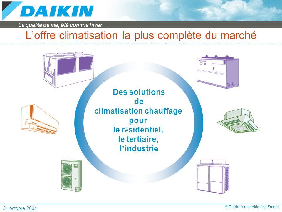 L'offre climatisation la plus complète du marché