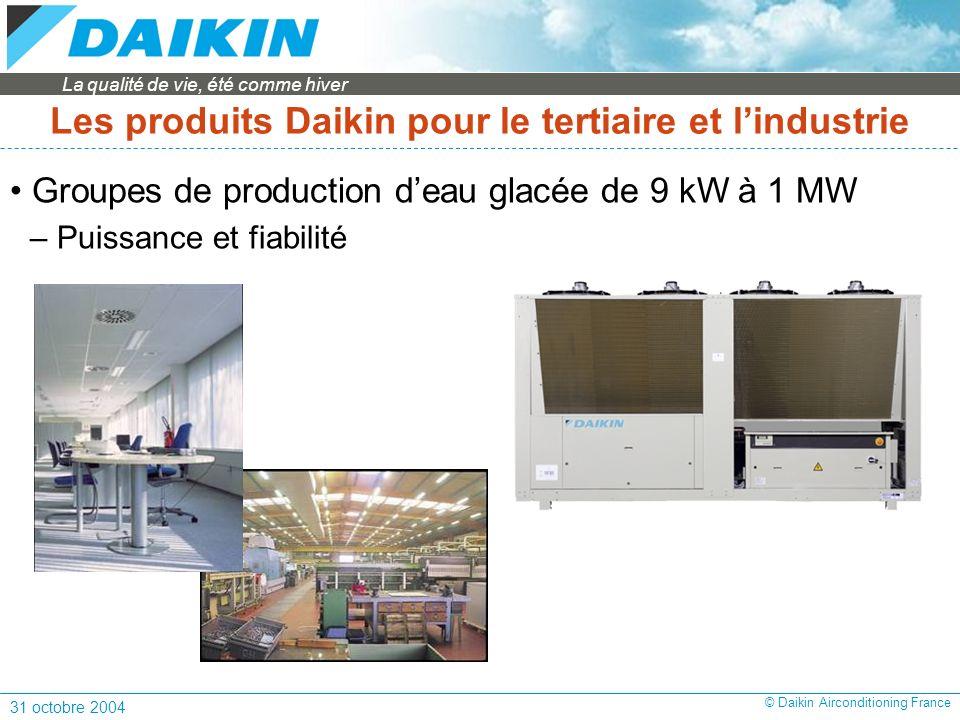 Les produits Daikin pour le tertiaire et l'industrie