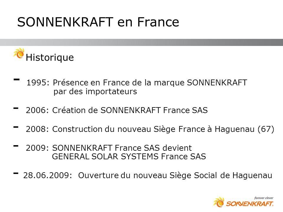 SONNENKRAFT en France Historique