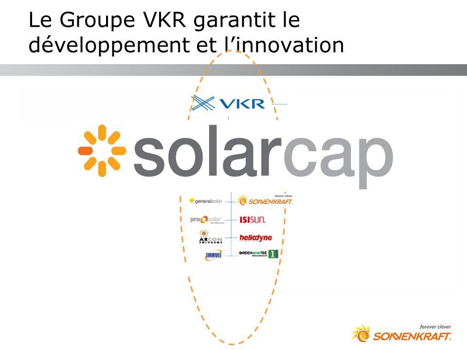 Le Groupe VKR garantit le développement et l'innovation