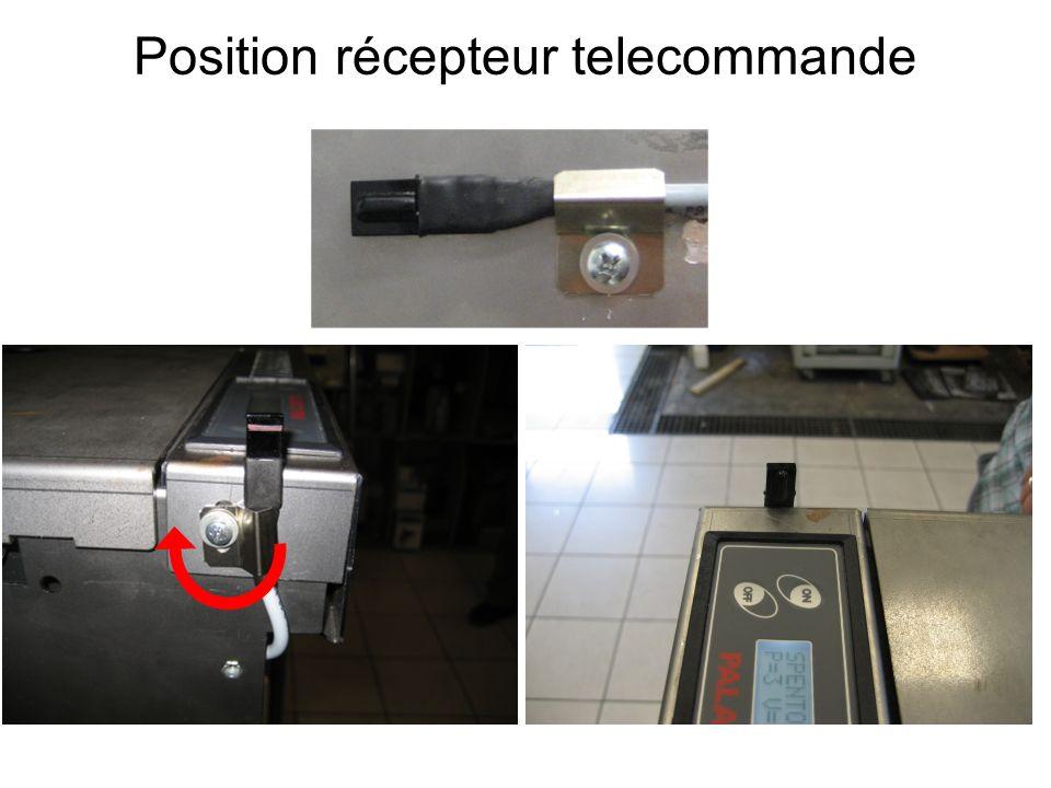 Position récepteur telecommande