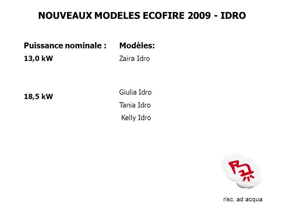 NOUVEAUX MODELES ECOFIRE 2009 - IDRO