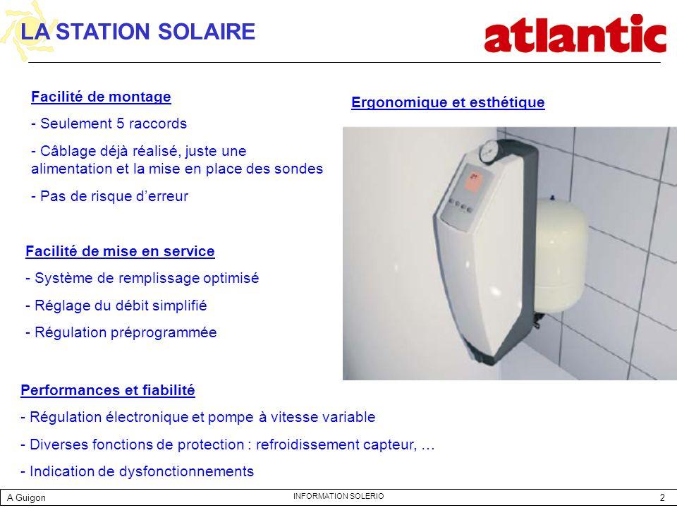 LA STATION SOLAIRE Facilité de montage Ergonomique et esthétique