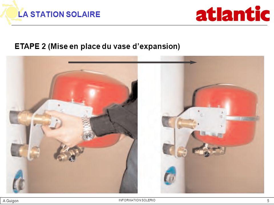ETAPE 2 (Mise en place du vase d'expansion)