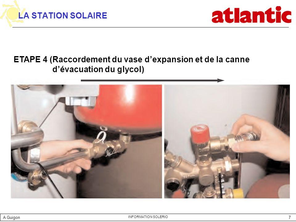 LA STATION SOLAIRE ETAPE 4 (Raccordement du vase d'expansion et de la canne d'évacuation du glycol)