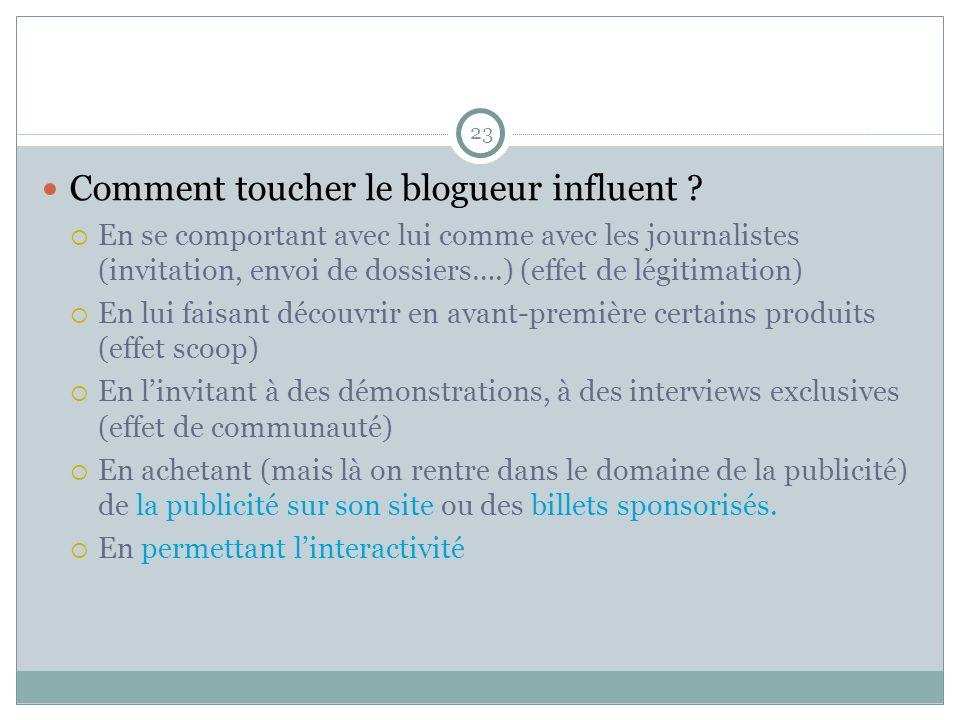 Comment toucher le blogueur influent