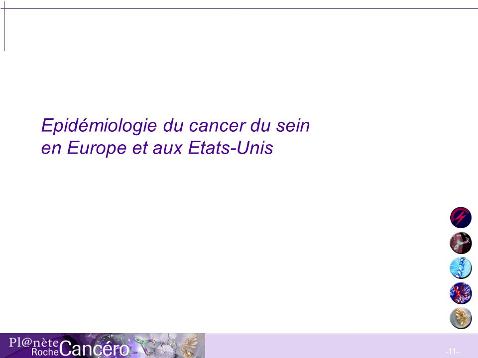 Epidémiologie du cancer du sein en Europe et aux Etats-Unis