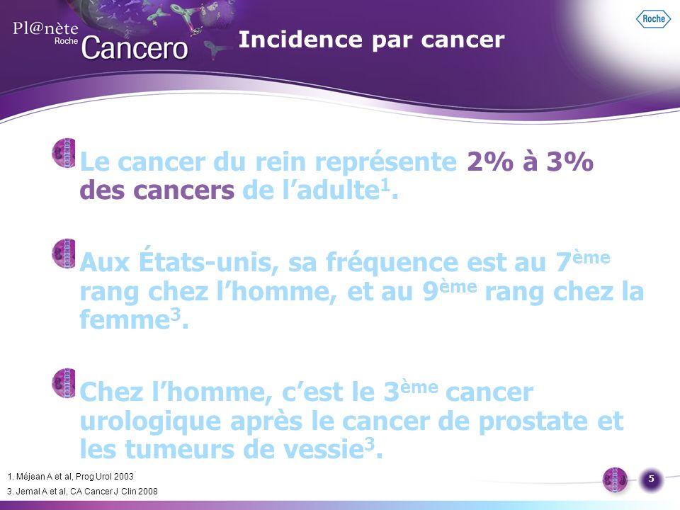 Le cancer du rein représente 2% à 3% des cancers de l'adulte1.