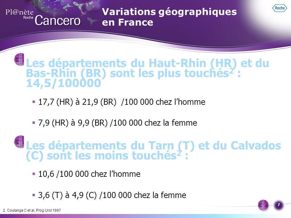 Variations géographiques en France