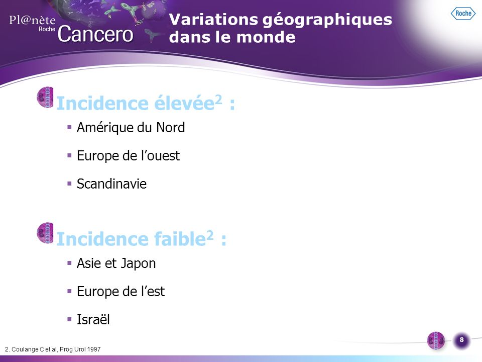 Variations géographiques dans le monde