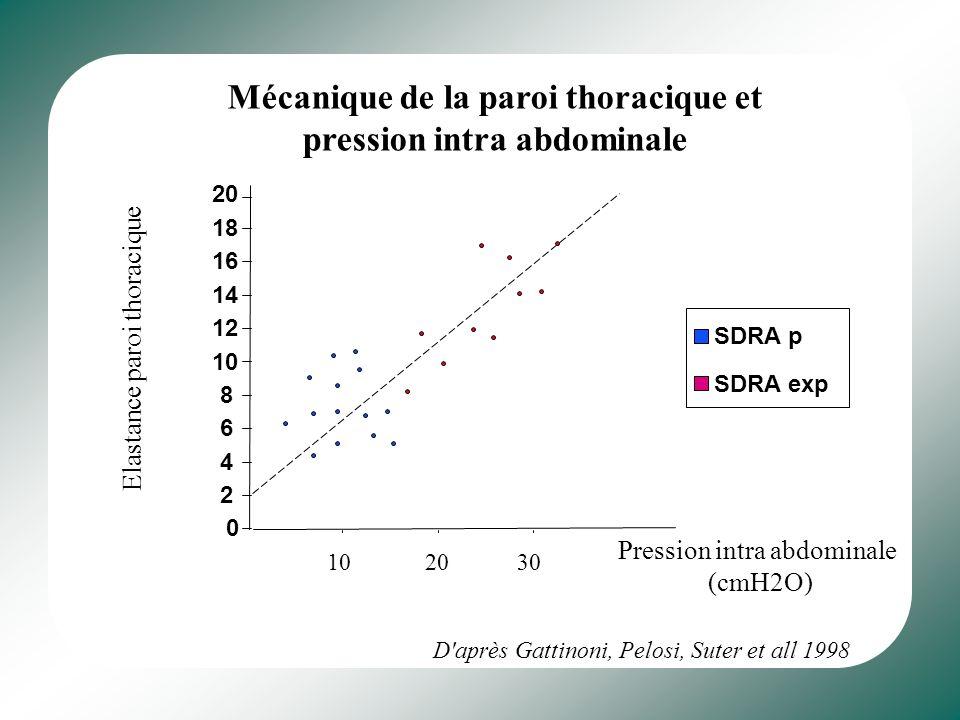 Mécanique de la paroi thoracique et pression intra abdominale