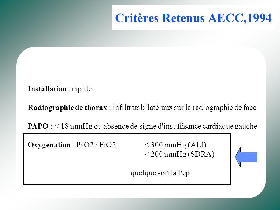 Critères Retenus AECC,1994 Installation : rapide