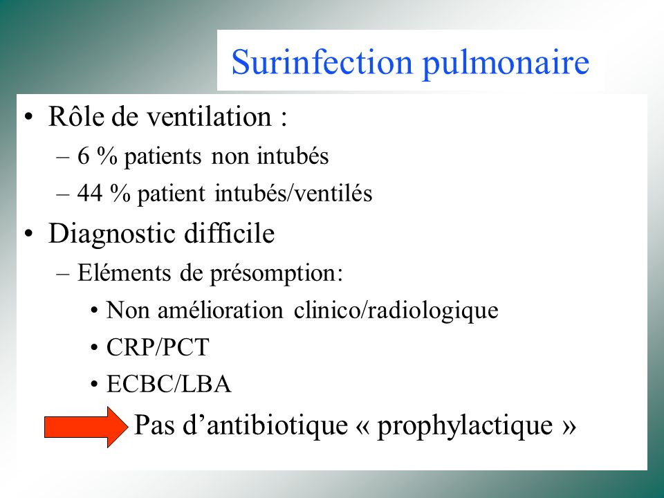 Surinfection pulmonaire
