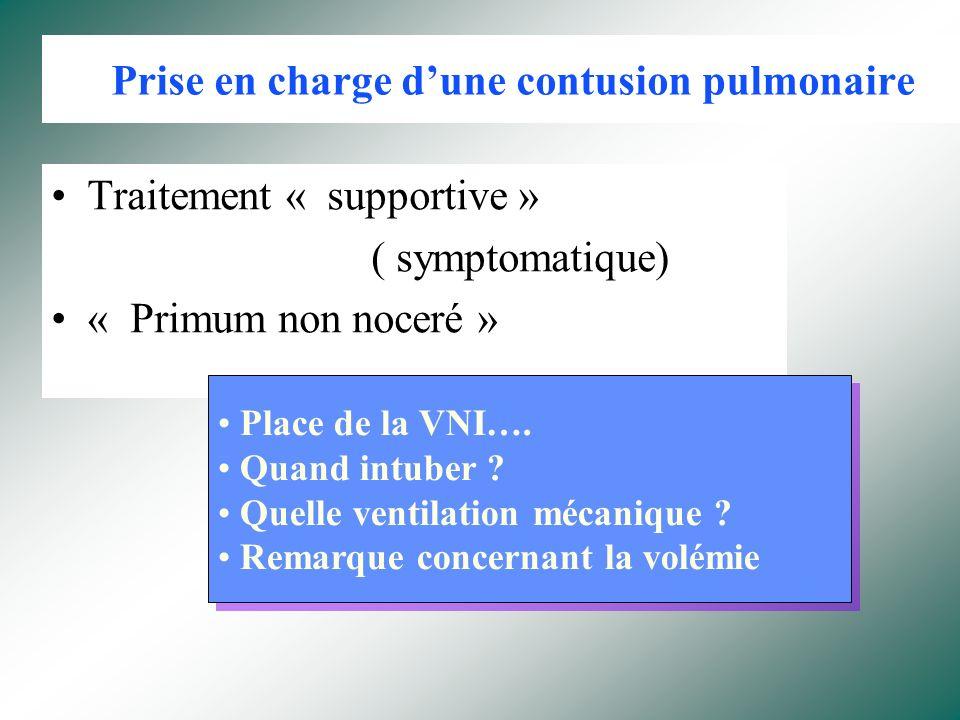 Prise en charge d'une contusion pulmonaire
