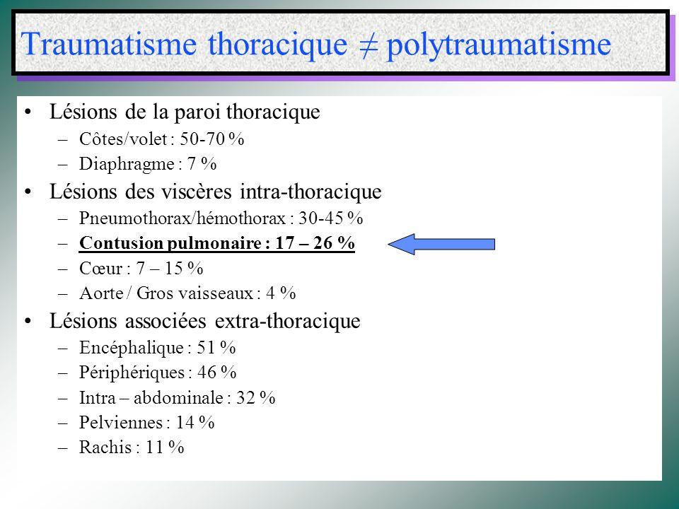 Traumatisme thoracique ≠ polytraumatisme