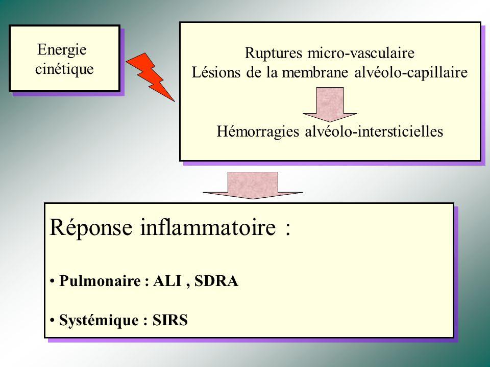 Réponse inflammatoire :