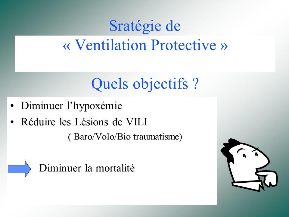 Sratégie de « Ventilation Protective » Quels objectifs