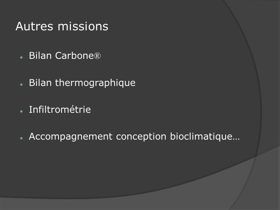 Autres missions Bilan Carbone® Bilan thermographique Infiltrométrie