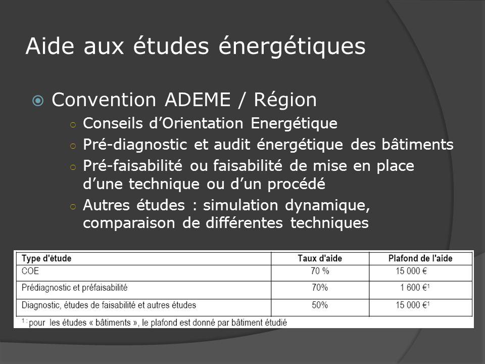 Aide aux études énergétiques
