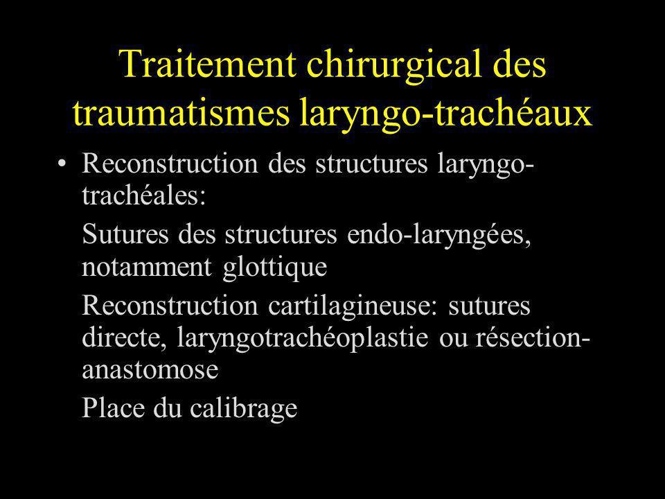 Traitement chirurgical des traumatismes laryngo-trachéaux