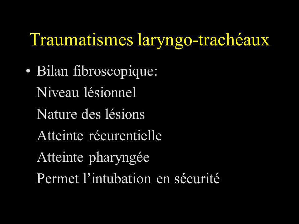 Traumatismes laryngo-trachéaux