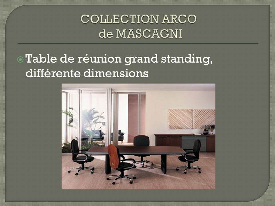 COLLECTION ARCO de MASCAGNI