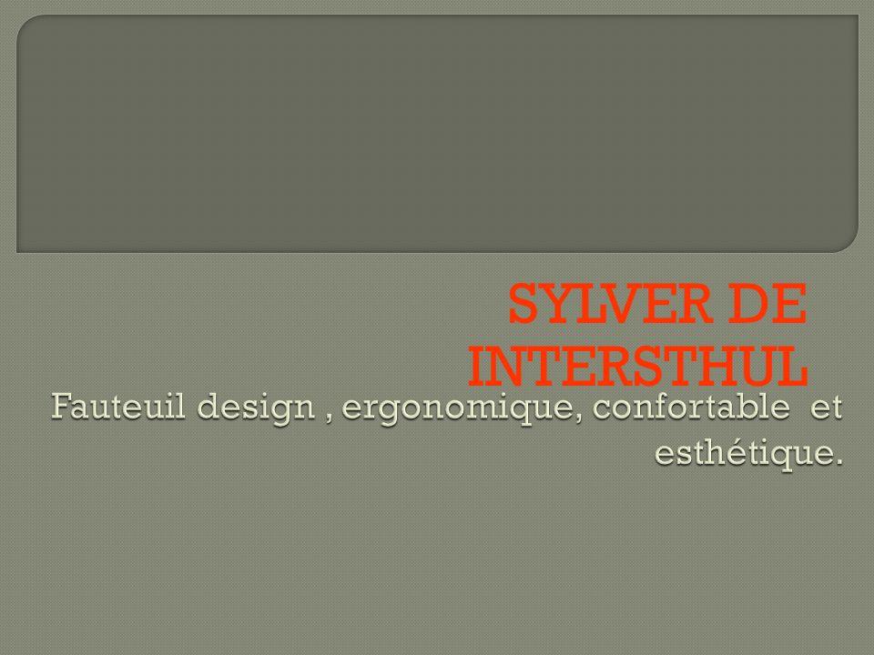 Fauteuil design , ergonomique, confortable et esthétique.