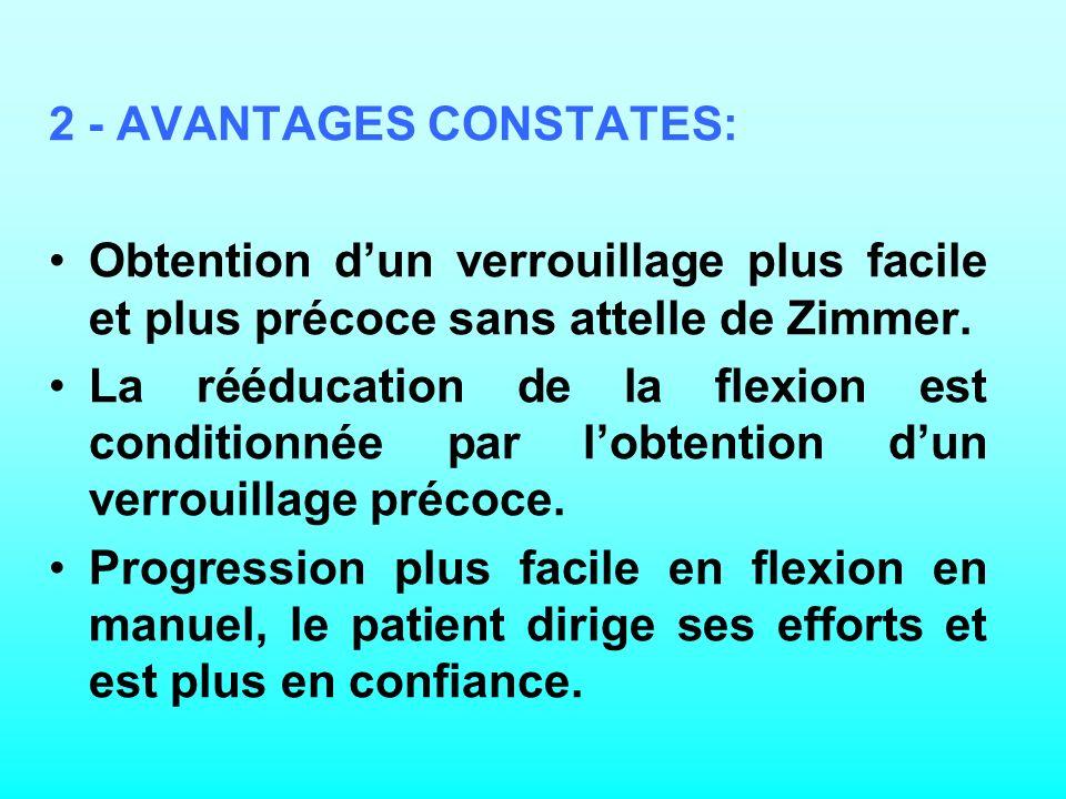 2 - AVANTAGES CONSTATES: