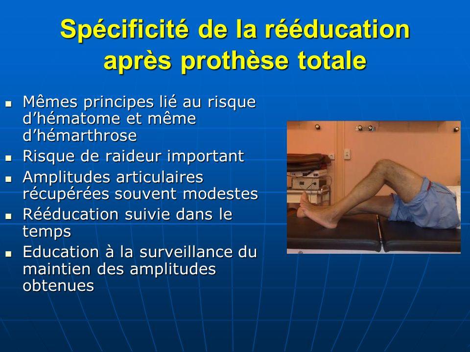 Spécificité de la rééducation après prothèse totale