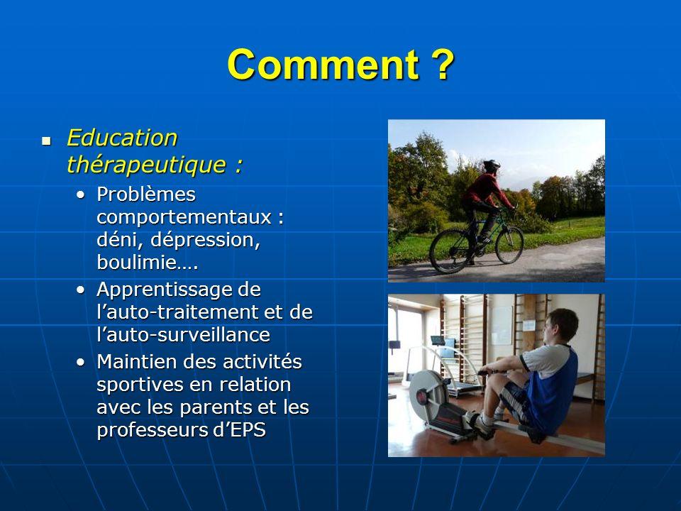 Comment Education thérapeutique :