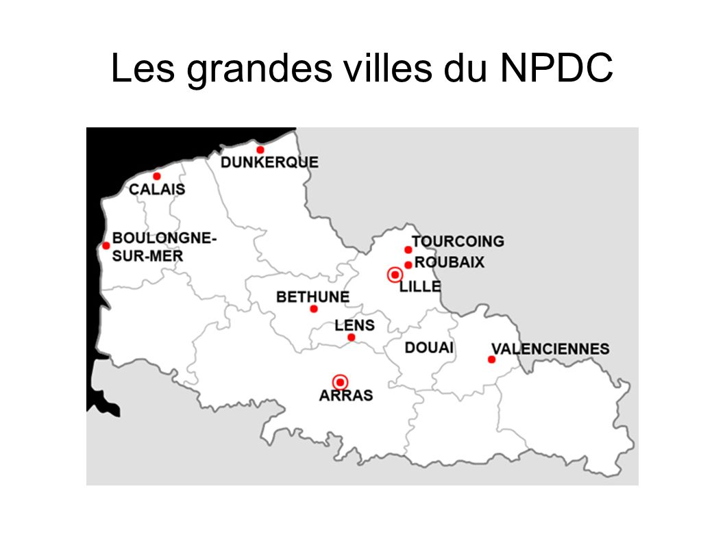Les grandes villes du NPDC