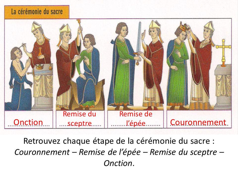 Retrouvez chaque étape de la cérémonie du sacre :
